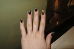 "The picture quality isn't that great on this one :( Last week's nails, my take on ""Galaxy Nails"""