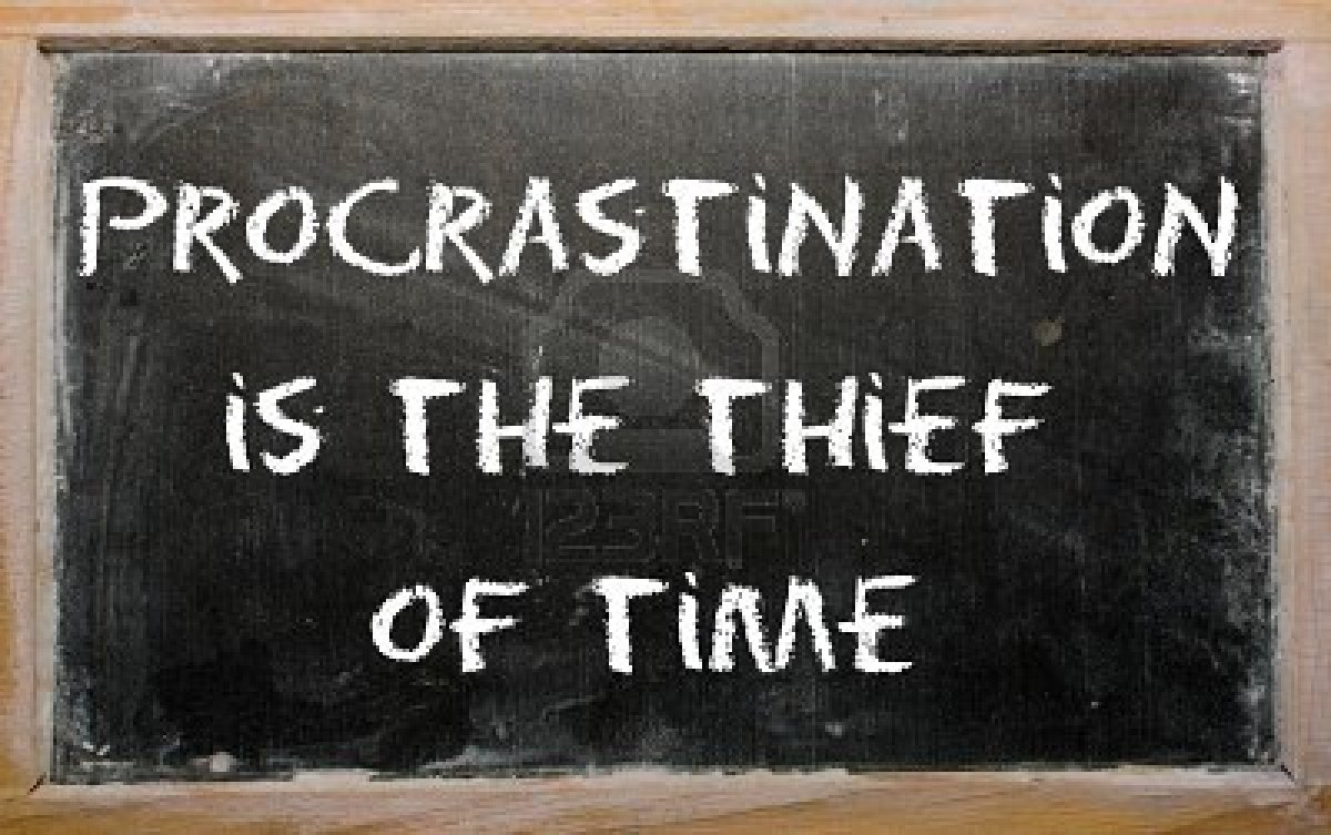 Procrastination is thief of time essay